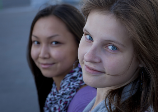 Miss Ayama And Adele, Ethnic Kazakh And Russian Girls, Astana, Kazakhstan
