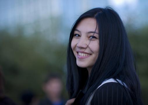 Kazakh Ethnic Young Woman In Astana, Kazakhstan