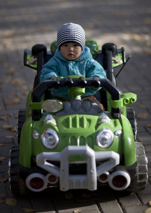 Baby Playing In Astana Park, Kazakhstan