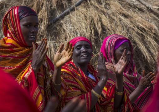 Somali tribe women singing and dancing, Turkana lake, Loiyangalani, Kenya