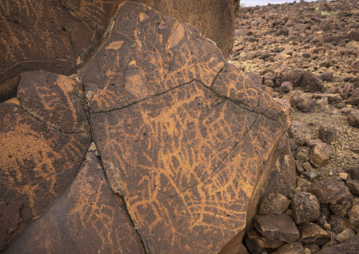 Ancient rock art, Turkana lake, Loiyangalani, Kenya