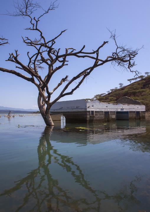 View of flooded hospital, Baringo county, Baringo, Kenya