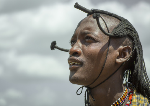 Portrait of a maasai warrior, Nakuru county, Nakuru, Kenya