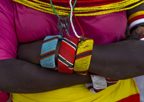 Rendille tribeswoman bracelets, Marsabit district, Ngurunit, Kenya