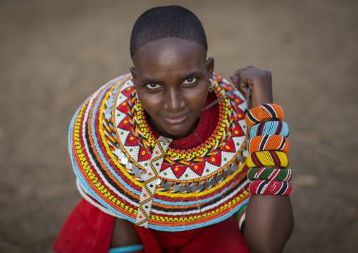 Portrait of a rendille tribeswoman, Marsabit district, Ngurunit, Kenya