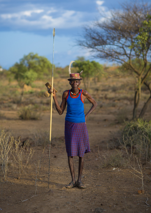 Pokot tribesman, Baringo county, Baringo, Kenya