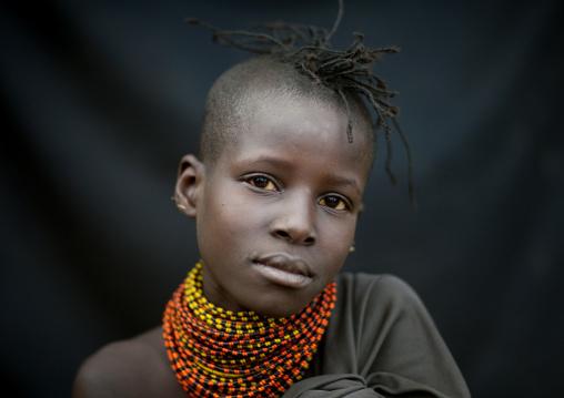 Turkana tribe girl, Rift Valley Province, Turkana lake, Kenya