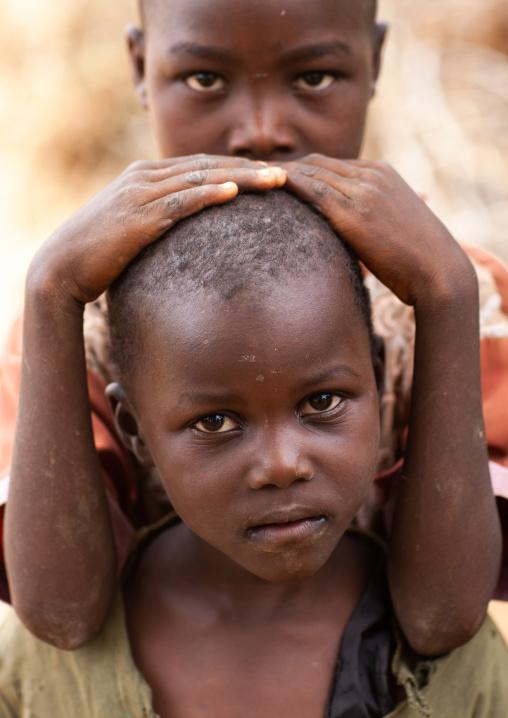 Tharaka tribe children, Laikipia County, Mount Kenya, Kenya