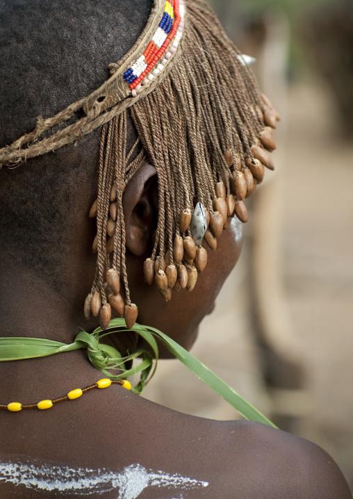 Portrait of a Tharaka tribe woman, Laikipia County, Mount Kenya, Kenya