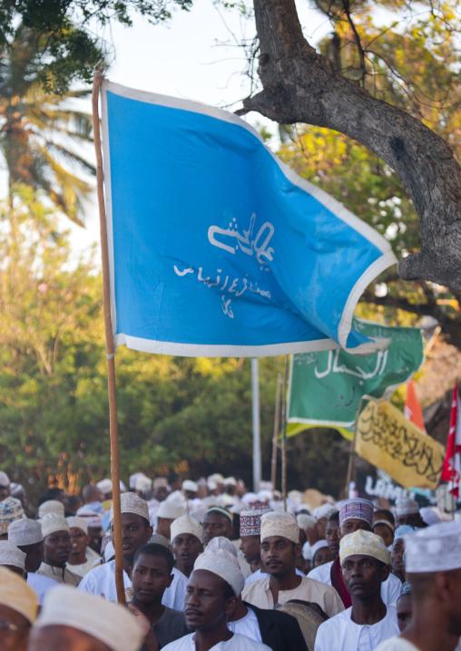 Men parading at lamu festival celebration, Lamu kenya