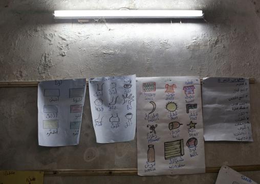 Bilingual drawings in stonetown academy lamu, Kenya