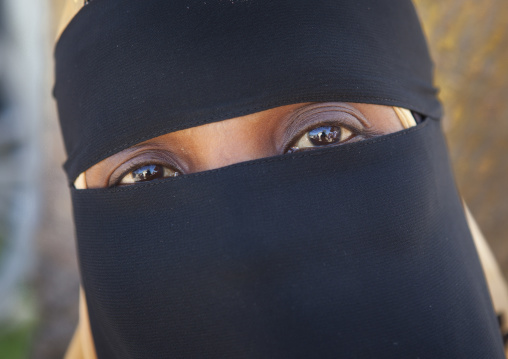 Young woman wearing hijab in lamu, Kenya