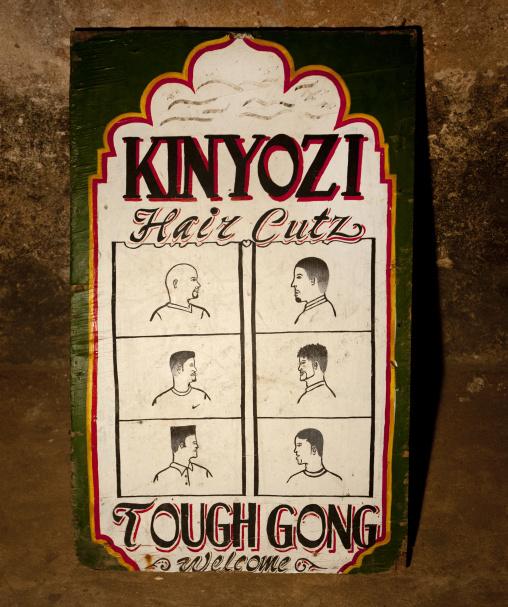 Haidresser billboard in lamu town - kenya
