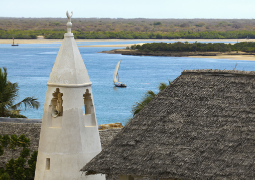 A view of the friday mosque and minaret on shela, Lamu kenya
