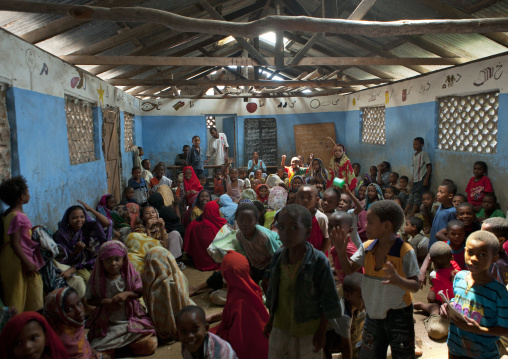 Children gathering in a coranic school, Lamu kenya