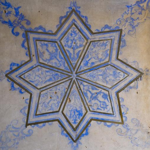 Ottoman Painted Star In A Divan In The Erbil Citadel, Kurdistan, Iraq