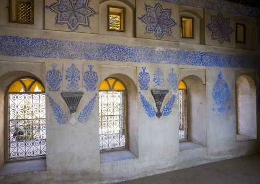 Ottoman Painted Ornamentation In A Divan Inside The Erbil Citadel, Kurdistan, Iraq