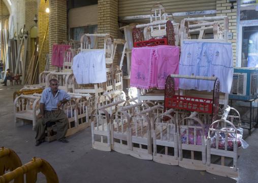Craddles For Babies In Qaysari Bazaar, Erbil, Kurdistan, Iraq