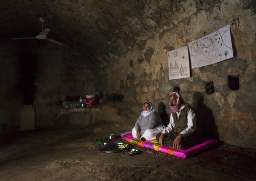 Yezedi Refugees From Sinjar Living Inside Lalesh Temple, Kurdistan, Iraq