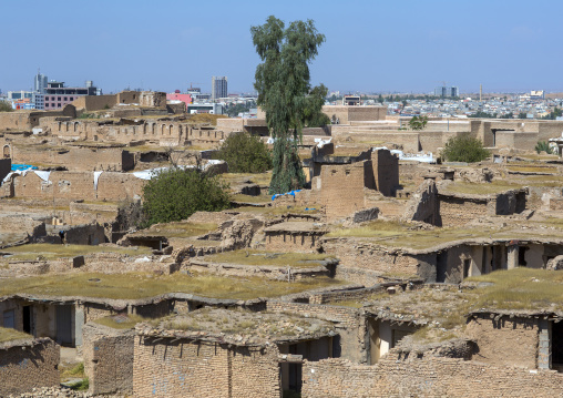 Old Houses With Flat Roofs Inside The Citadel, Erbil, Kurdistan, Iraq