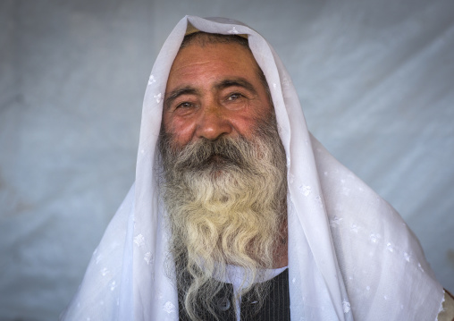 Yezidi Refugee Man Displaced From Sinjar Living In An Under Construction Building, Duhok, Kurdistan, Iraq