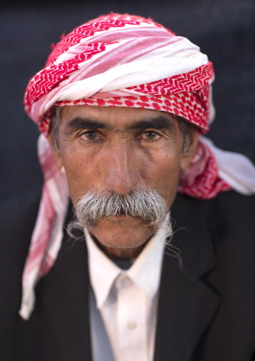 Yezidi Refugee Man Displaced From Sinjar Living In Lalesh Temple, Kurdistan, Iraq