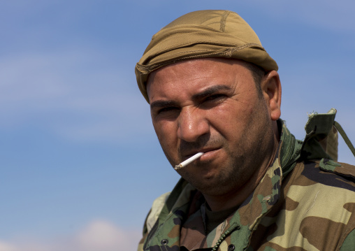 Kurdish Peshmerga On The Frontline, Duhok, Kurdistan, Iraq