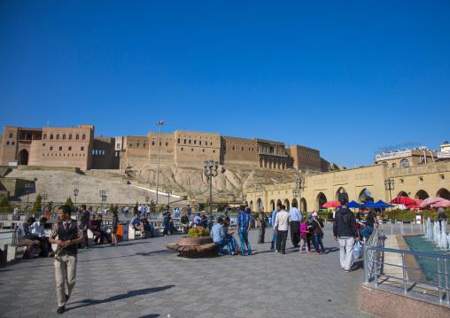 Qaysari Bazaar And The Citadel, Erbil, Kurdistan, Iraq