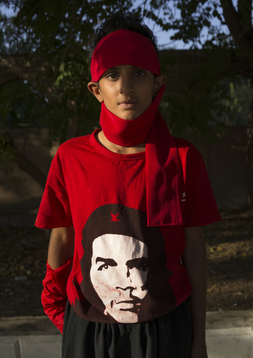 Boy With A Che Guevara Shirt, Suleymanyah, Kurdistan, Iraq