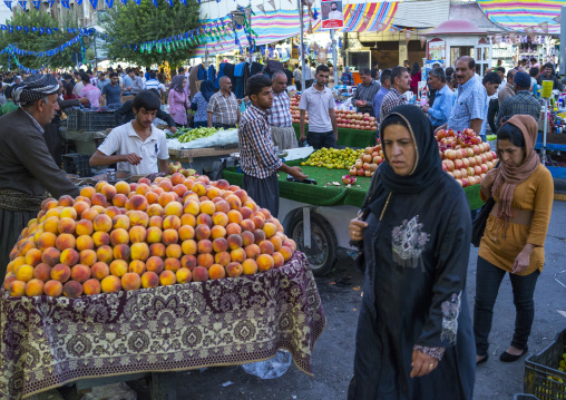 Fruit Market In The Street, Suleymanyah, Kurdistan, Iraq