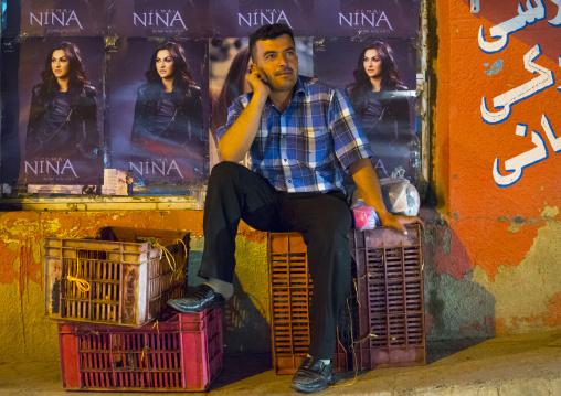 Man Sitting In The Street, Suleymanyah, Kurdistan, Iraq