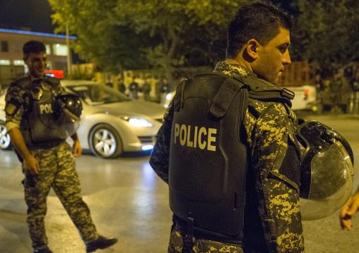 Policemen During Kdp Meeting, Suleymanyah, Kurdistan, Iraq