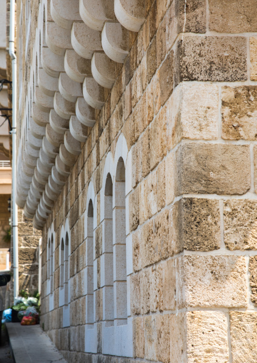 Detail from a stone building, Mount Lebanon Governorate, Byblos, Lebanon