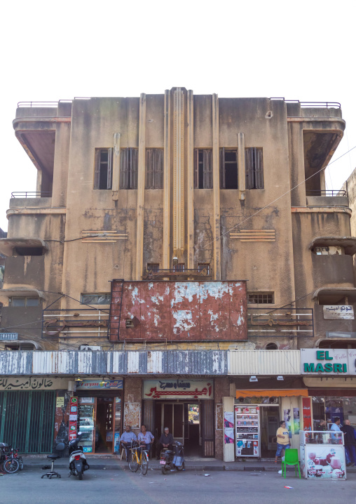 Old abandoned cinema, North Governorate, Tripoli, Lebanon