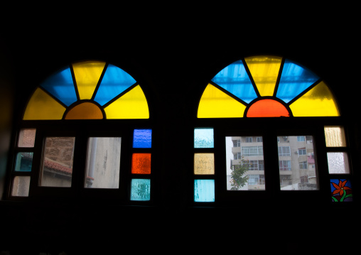 The stained glass windows of a historical house, North Governorate, Tripoli, Lebanon