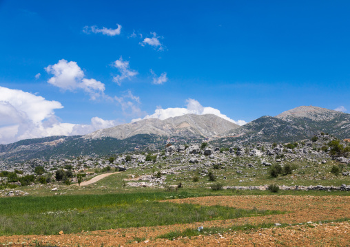 View over Bekaa valley, South Governorate, Jezzine, Lebanon