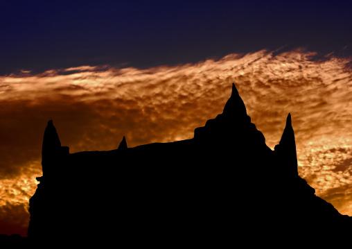 House in the sunset, Tripolitania, Ghadames, Libya