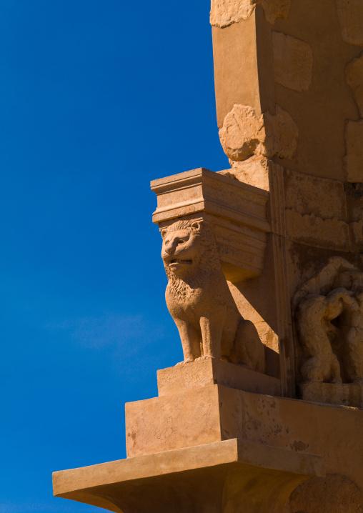 The mausoleum of bes, Tripolitania, Sabratha, Libya