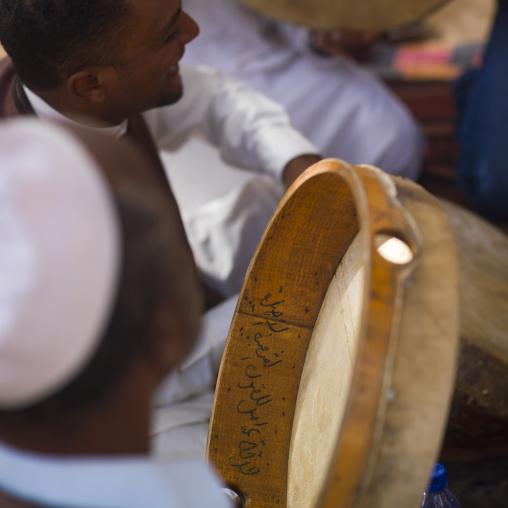Musicians with drums, Tripolitania, Ghadames, Libya