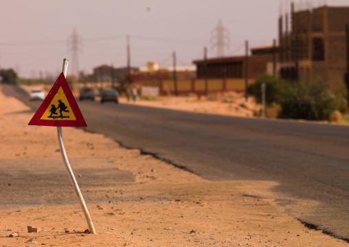 School roadsign, Fezzan, Germa, Libya