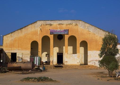 Old italian market building, Cyrenaica, El Awelya, Libya