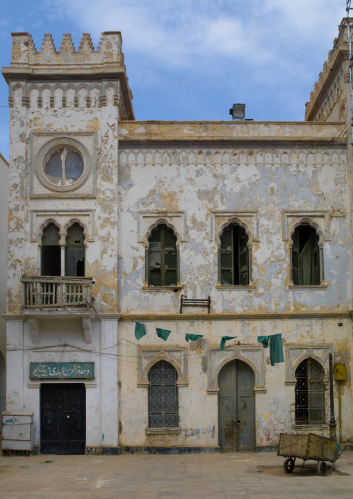 The old italian-built town hall in freedom square, Cyrenaica, Benghazi, Libya