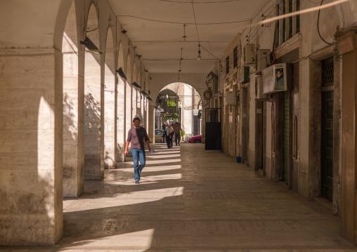 Arcades from the italian settlement, Tripolitania, Tripoli, Libya