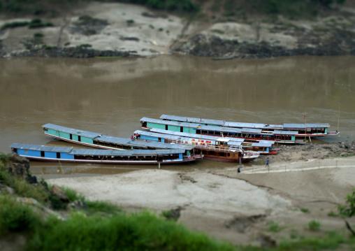 Speedboat on mekong river, Houei xay, Laos