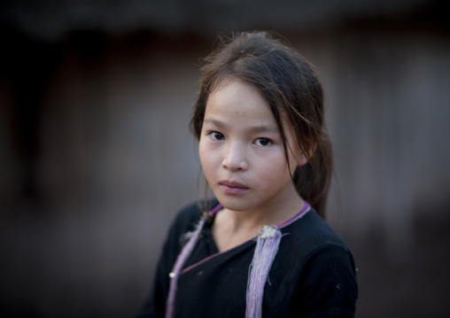 Lantaen minority girl, Nam deng, Laos