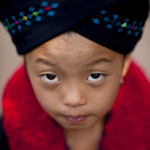 Yao minority girl, Ban xay leck, Laos