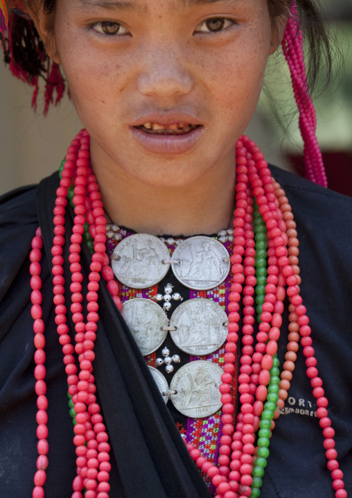 Akha pala minority woman, Luang prabang, Laos