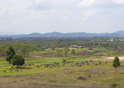 Plain of jars on xieng khuang plateau, Phonsavan, Laos
