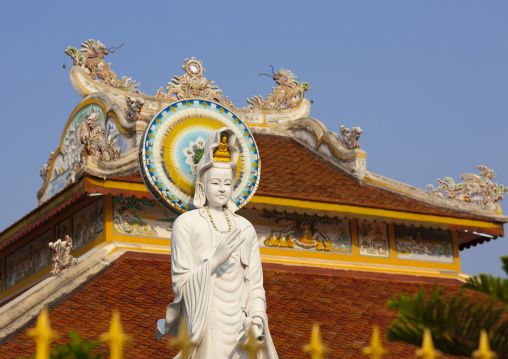Statue in a temple, Savannakhet, Laos
