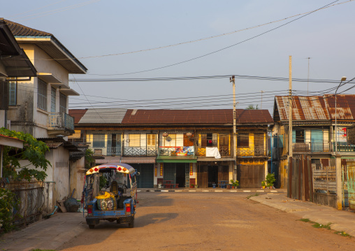 Old french colonial houses, Savannakhet, Laos